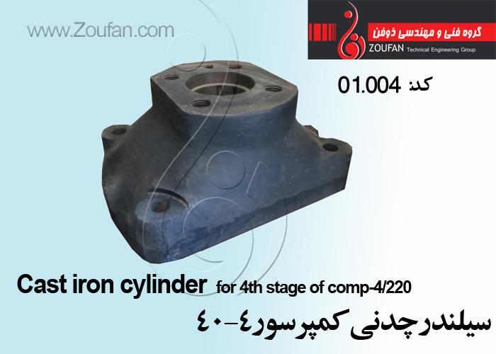 سیلندر چدنی 4-40   /cylinder
