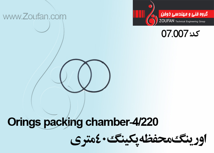 اورینگ محفظه پکینگ 40 / Orings packing